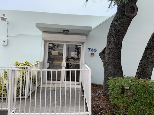 Front view of the Miami-Dade County Medical Daycare PPEC center and a Google map showing its location